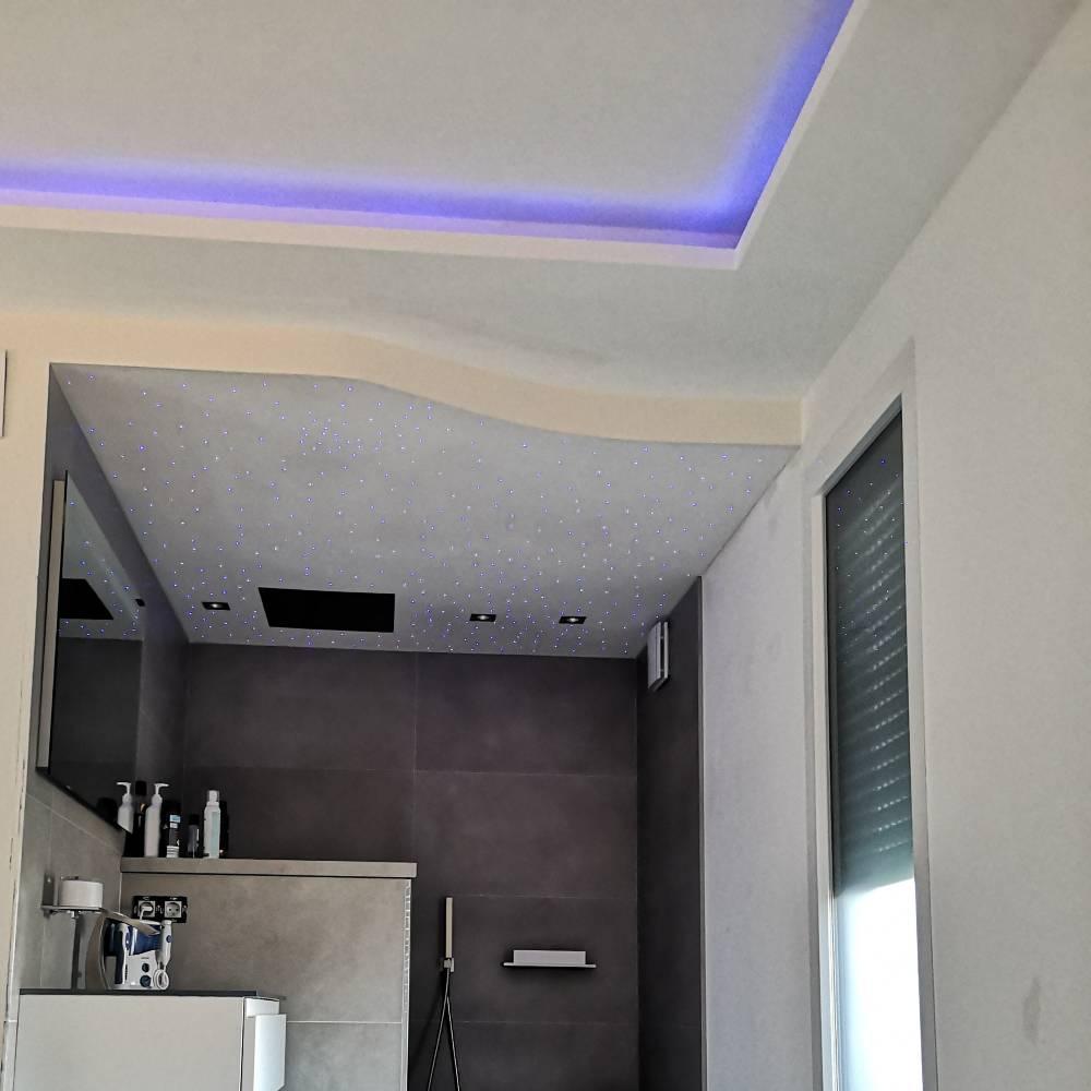 LCV PLAQUES 83 - Portfolio - Plafond rétroéclairé salle de bain & chambre